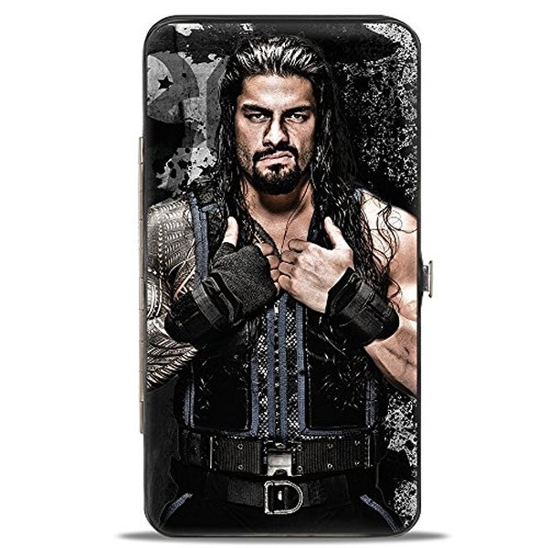 Roman Reigns Vivid Pose + Icon Grays Black White Hinged Wallet One Size - One Size Fits most