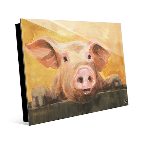 Kathy Ireland The Pig Next Door Wants a Snack on Acrylic Wall Art Print
