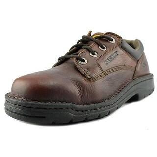 Wolverine Exert Men EW Round Toe Leather Brown Work Shoe