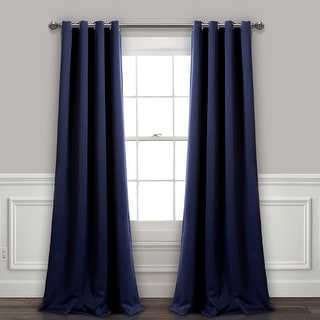 Link to Lush Decor Insulated Grommet Blackout Curtain Panel Pair Similar Items in Curtains & Drapes