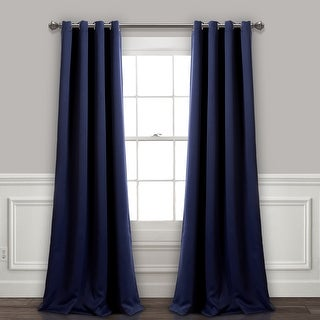 Link to Lush Decor Insulated Grommet Blackout Curtain Panel Pair (As Is Item) Similar Items in As Is