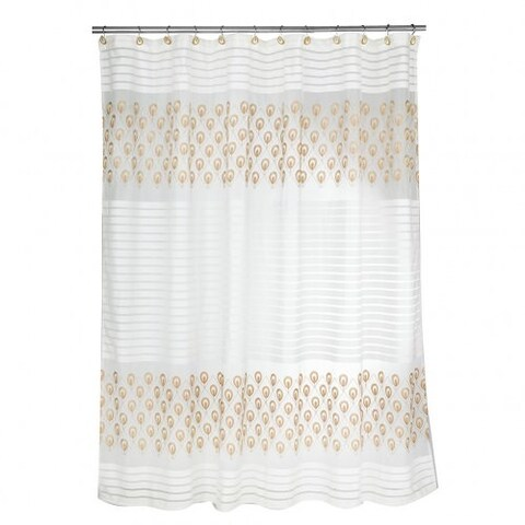Popular Bath Seraphina Embroidered Shower Curtain, 72x72 Inches