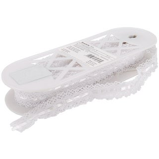 """Spider Cluny Lace 1-7/8""""X12yd-White - White"""