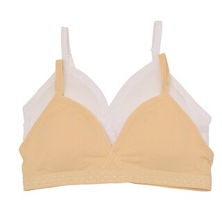 Girls White Light Beige Adjustable Strap Full Cup 2 Pc Bra Set (3 options available)