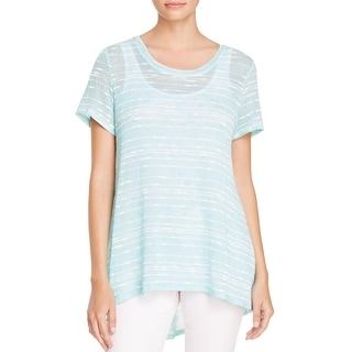 Nally & Millie Womens Casual Top Striped Hi-Low