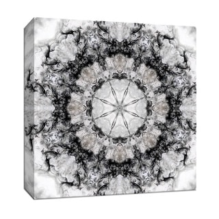 """PTM Images 9-147855  PTM Canvas Collection 12"""" x 12"""" - """"Black White Kaleidoscope III"""" Giclee Abstract Art Print on Canvas"""