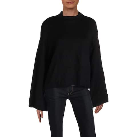 Anne Klein Womens Pullover Sweater Wool Blend Mock Neck