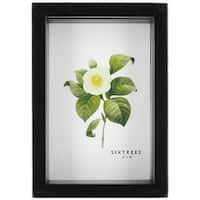 Sixtrees Shadow Box Frame, 4 by 6-Inch, Black