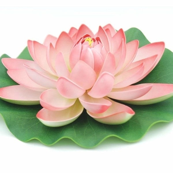 Shop 2 Pack Artificial Floating Foam Lotus Flower Pond Decor Water