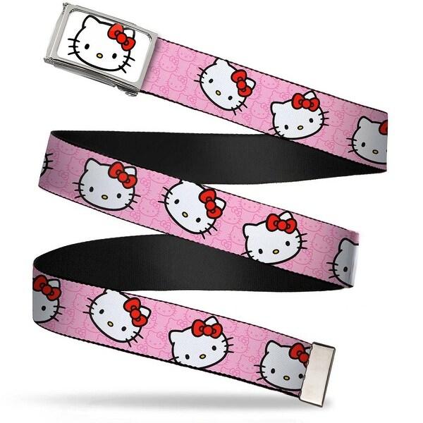 Hello Kitty Face Fcg White Bo Chrome Hello Kitty Random Faces W Pink Web Belt