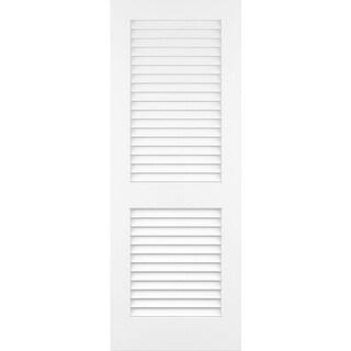"""Frameport PLA-PD-L-6-2/3X2-1/3  Plantation 28"""" by 80"""" Louver/Louver Interior Slab Passage Door"""