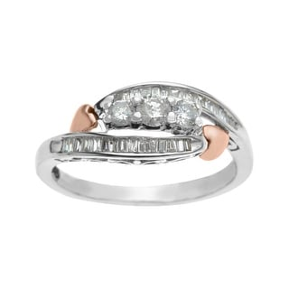 1/2 ct Diamond Ring in 14K Two-Tone Gold