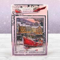 Snowfall - Hunkydory Acetate Sheets 5/Pkg