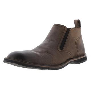Andrew Marc Mens Eugene Leather Round Toe Chukka Boots - 9.5 medium (d)