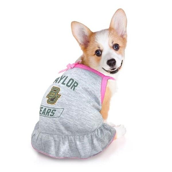 official photos aec03 4860a Little Earth Pet Dress Grey Type - Baylor University, XS