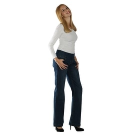 Lola Katimae-MSB, Mid Rise Pull On Wide Leg Jeans With 4Way Stretch Technology