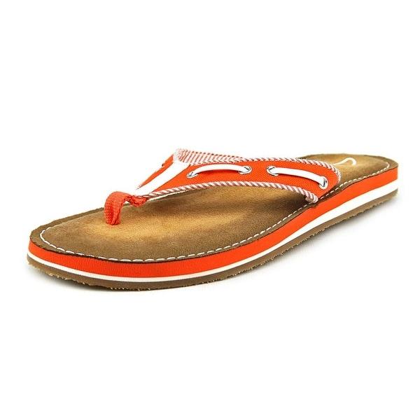 Clarks Flo Cherrymore Open Toe Canvas Flip Flop Sandal