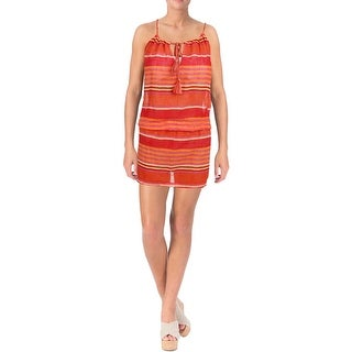 Polo Ralph Lauren Womens Striped Braided Dress Swim Cover-Up