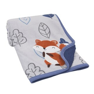 Lambs & Ivy Blue Little Campers Blanket