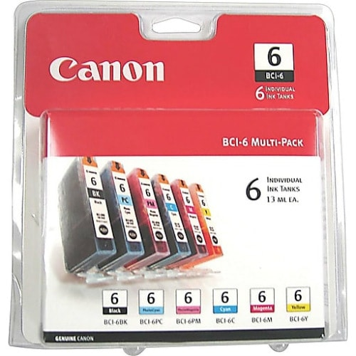 """Canon BCI-6 Color Ink Cartridges INK, BCI-6, SIX PACK CLAMSHELL,"""