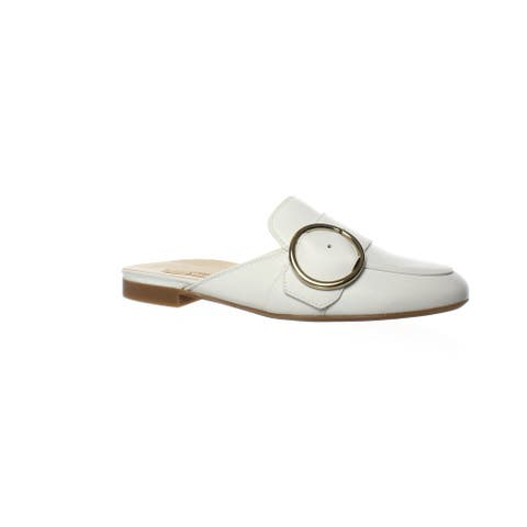 Paul Green Womens Simona White Leather Mules Size 5.5