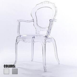 Good Shop 2xhome  Clear Plastic Dining Chairs Modern Design Home Designer Chair  Acylic   N/A   Free Shipping Today   Overstock.com   18527034