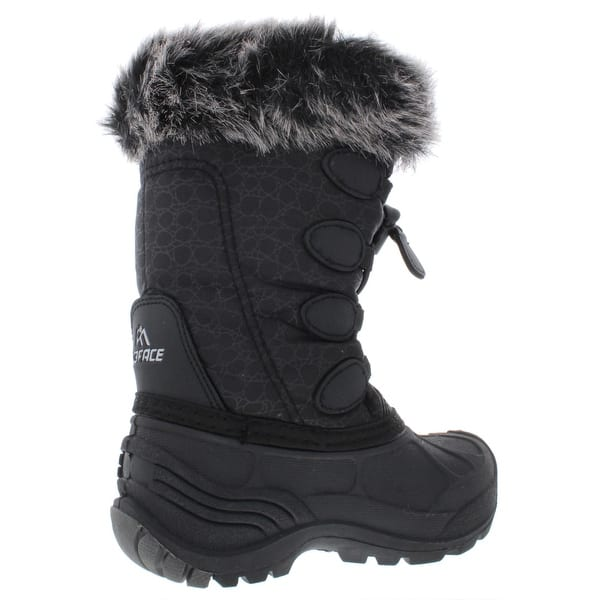 girls black snow boots