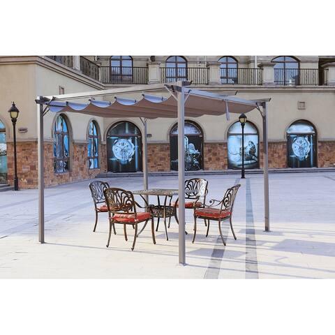 Aluminum Retractable Pergola with Canopy Outdoor Gazebo for Backyard