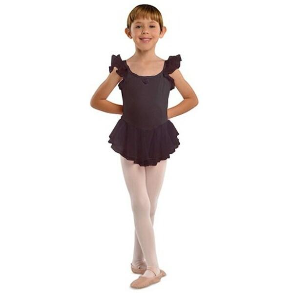 a1d3008023b3 Shop Danshuz Black Flutter Sleeve Ballet Dance Dress Little Girls 2T-10 -  Free Shipping On Orders Over $45 - Overstock - 18121800