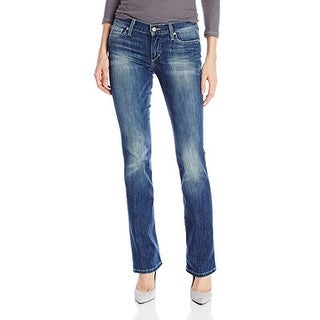 Joe's Jeans Womens Laurel Low-Rise Medium Wash Bootcut Jeans
