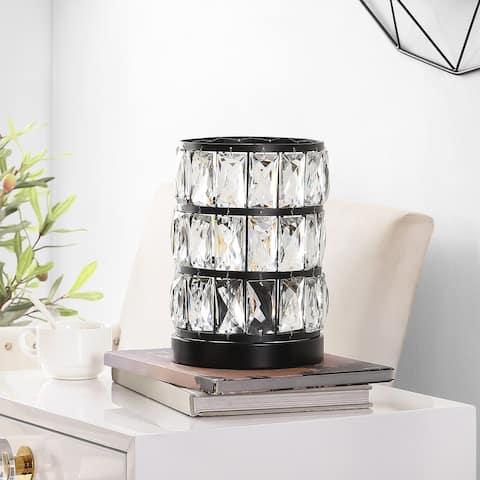 "Safavieh Lighting 9-inch Alva Acrylic Table Lamp - 7"" x 7"" x 9"""