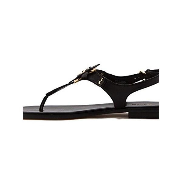 d2dca0287aa MICHAEL Michael Kors Womens Heidi Flat Sandals Metallic T-Strap - 8 medium  (b