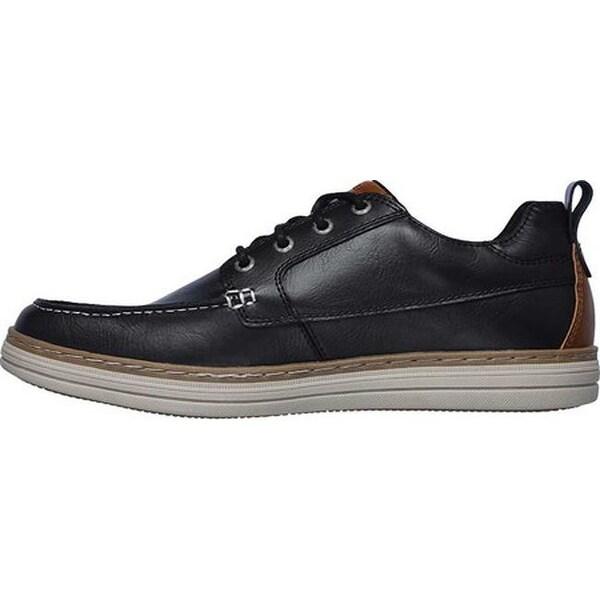 Shop Skechers Men's Heston Sendo Moc Toe Oxford Black