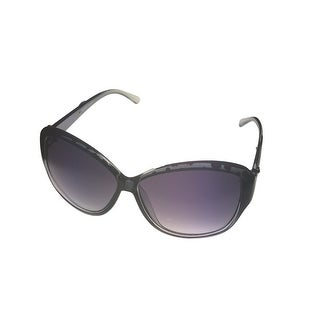 Ellen Tracy Womens Sunglass 545 3 Crystal Black Rectangle Plastic, Gradient Lens - Medium