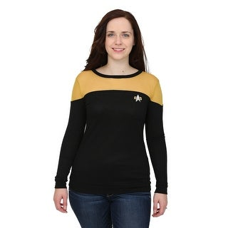 Womens Star Trek Sheer Yoke Gold Sweater
