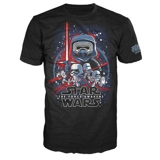 Star Wars The Force Awakens Funko POP Movie Poster Adult T-Shirt