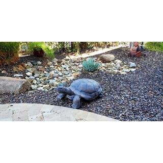 Sunnydaze Todd the Tortoise Indoor-Outdoor Lawn and Garden Statue - 30-Inch - Tan