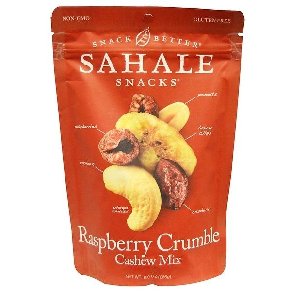 Sahale Snacks Raspberry Crumble Cashew Trail Mix - Case of 4 - 8 oz.