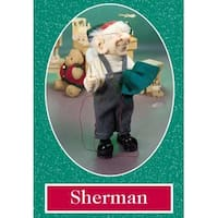 "11"" Zims The Elves Themselves Sherman Collectible Christmas Elf Figure - multi"