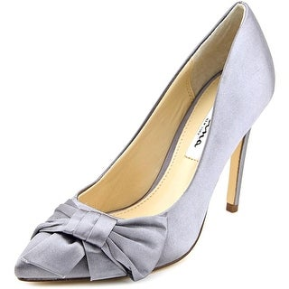 Nina Rafaela Women Pointed Toe Canvas Silver Heels