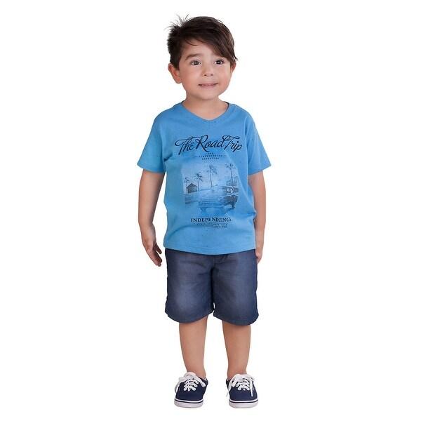 Pulla Bulla Toddler Boy Graphic Tee Short Sleeve Shirt