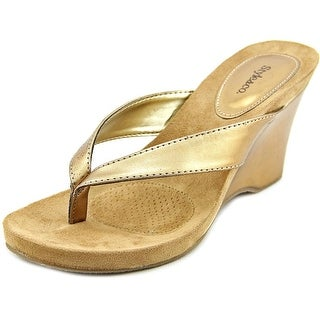 Style & Co Chicklet Open Toe Synthetic Wedge Sandal