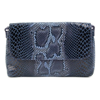Buco Snake Clutch Crossbody Women   Leather  Clutch - Blue
