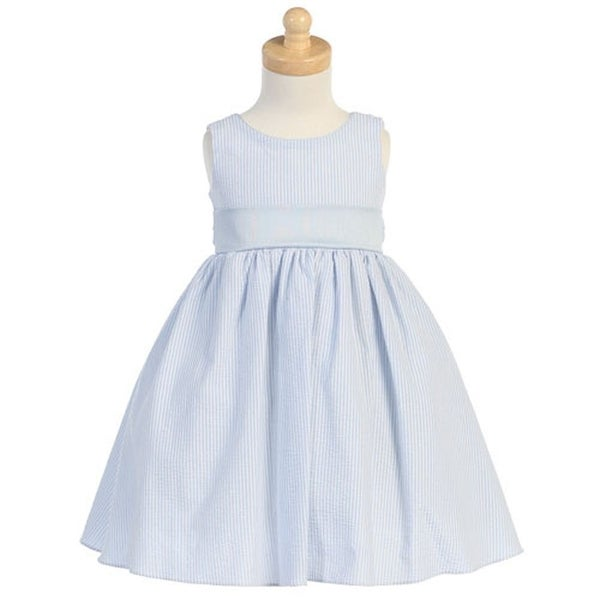 Shop Baby Toddler Girl Light Blue Seersucker Stripe Easter
