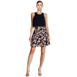 Black Halo Sanibel Floral 2 Piece Cocktail Day Dress - 6