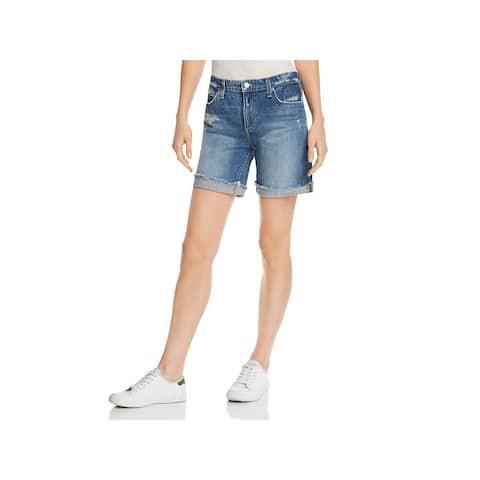 Joe's Jeans Womens Bermuda Shorts Denim Distressed