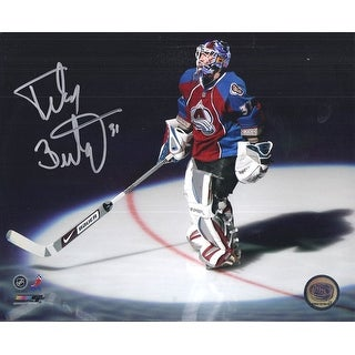 Peter Budaj Autographed Colorado Avalanche Spotlight 8x10 Photo