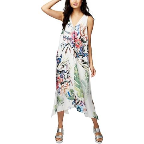 Rachel Roy Womens Printed High-Low Dress, White, Small