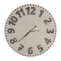 BrandtWorks Oversized Gray Industrial Style Wall Clock  30'' x 30''
