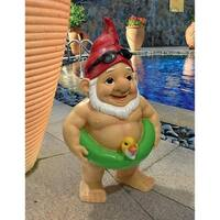 Design Toscano  Pool Party Pete Naked Gnome Statue